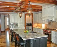 In addition we create custom cabinets, bathroom remodels, custom sinks, designer tile backsplashes, and fireplace hearths.
