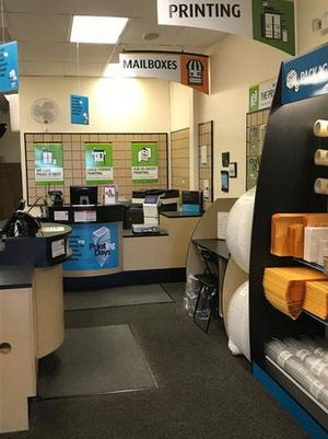Get a feel for our store... this is our customer service counter area where we assist you with all your shipping, mailing, notarizing and printing needs.