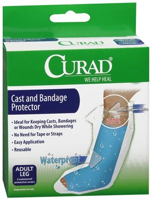 Waterproof Cast and Bandage Protector  Leg - in Adult and Kid Sizes