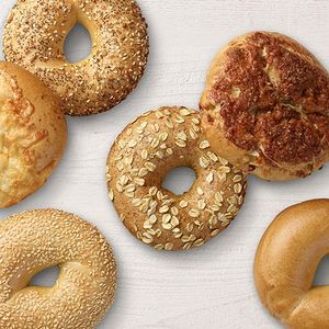 Try any one of our delicious bagel flavors.