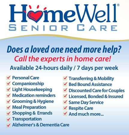 Visit our website for more information at www.homewellseniorcare.com