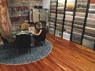 We have a dedicated area in our Gallery for interior design. It is a space for creativity and innovation with easy access to our selection of custom hand-made rug options.