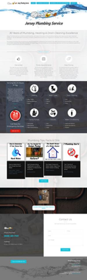 Web Design for a Plumbing Company in Hillsborough, NJ. Design by Lattice Marketing