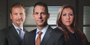 (Front left to right) Attorneys Dan B. Graves, W. Chad McLain and Rachel E. Gusman