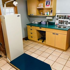 The exam room at Angel Oak Animal Hospital