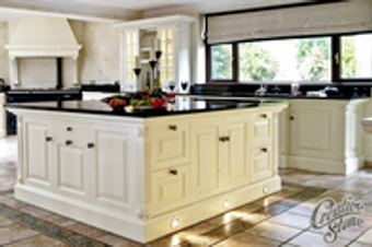 Create your custom designed kitchen with beautiful granite, marble, onyx or quartz countertops from Creative Stone of Fayetteville. We also offer quality-built cabinets and a large selection of flooring.