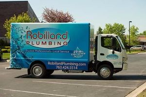 Stocked – and ready to go! With a large service area, our Robillard Plumbing trucks come equipped to address any and all plumbing emergencies.