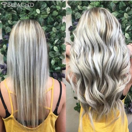 """Before and after 21"""" hair extensions"""