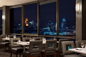 Eighteen at the Radisson is an upscale steakhouse located on the eighteenth floor of the Radisson Cincinnati Riverfront.