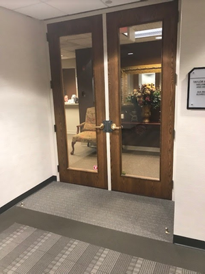 The entrance to our office.