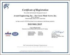 ISO 9001:2015 Certified!