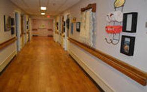 Columbia Healthcare Center Auguste's Cottage hallway.