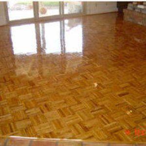 Wood Floor AFTER repairs and resurfacing