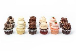 We also dabble in mini-cupcakes if you need a small quick bite, or a delicious custom cake to feed the whole party.