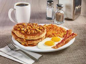NEW! Apple Bourbon Pancake Breakfast