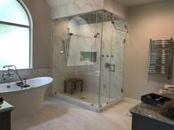 Completed High end glass steam enclosure