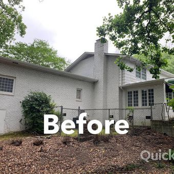 Exterior painting job before