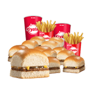 12 Krystal Combo - 12 Krystals, 2 Medium Fries, 2 Medium Drinks