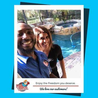 Pool Troopers Technician Selfie with Customer