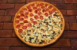 Our Jumbo Pizza is 18 inches across and feeds 6-8 people!