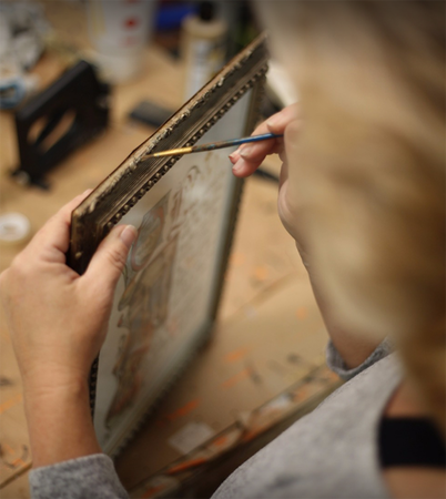 All of our frames are custom-made!
