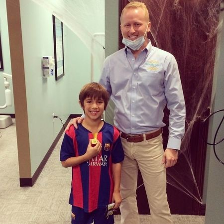 Dr. Grant with one of our awesome patients!