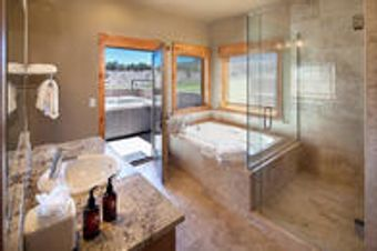 One Story, Four Bedroom Cabin Bathroom