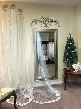 Schedule an appointment to discuss your custom veil and headpiece ideas today.