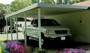 Aluminum Carports - Single or Double Metal Carports installed by Delta Tent and Awning Company.