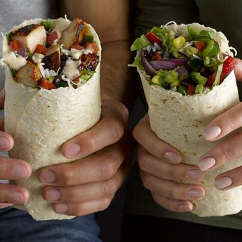 Customize your burrito with favorites like grilled adobo chicken, 3-cheese queso, seared fajita veggies and hand-smashed guac.