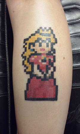 Princess Peach tattoo by Jason Hansen (Tattoo Specialist)
