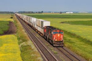 INTERMODAL - When shippers transport goods using two modes of freight to speed up the process and lower the cost, they use intermodal transportation.