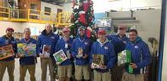 Pool Troopers Staff Participating in Toys for Tots