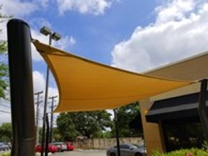 New shade installed at Clementine's Restaurant in San Antonio.