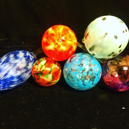 """Awesome job, students! Another successful class. """"Make Your Own Ornaments Class"""", schedule today!"""