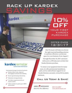 Rack up Kardex