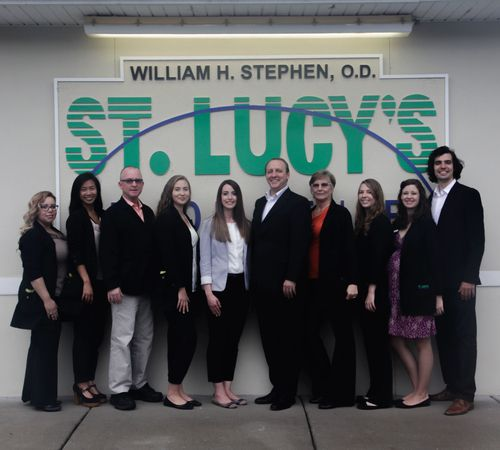 The team at St. Lucy's Vision Center - 5885 Gunn Hwy - Tampa, Fla. 33625