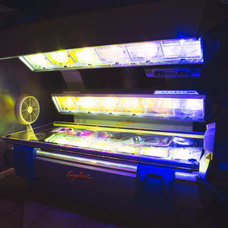 Come tan with our Ergoline tanning bed!