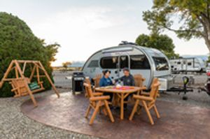 We feature beautiful patios in our Deluxe RV Sites!