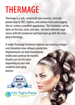Thermage face tightening procedure.