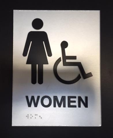 Women - ADA - Braille - Wayfinding Signs