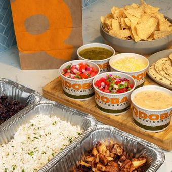 Family Meals come with all of the fixings to make flavorful tacos or bowls for 4-5 people.