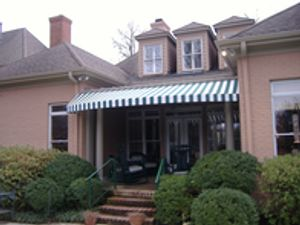 Residential Home Awning - Sunbrella Fabric - Custom Awning installed for customers in Tennessee, Mississippi, Arkansas, Missouri and Kentucky..