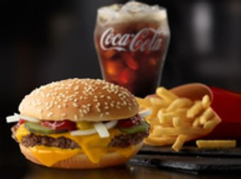 McDonald's Quarter Pounder with Cheese Extra Value Meal