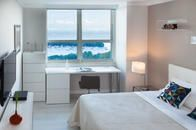Second bedrooms, better than many master ones. All you need plus the ocean across the window