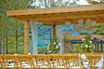 Outdoor wedding under a pagoda
