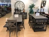 New reclaimed wood groups in a unique gray finish.