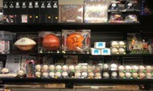 We have autographed basketballs, baseballs, and more!