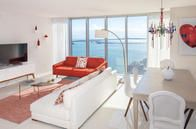 """""""Miami Chic"""" living room. Colorful, elegant, functional. Home away from home"""