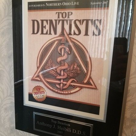 Voted top dentist 12 years in a row in Cleveland Magazine.